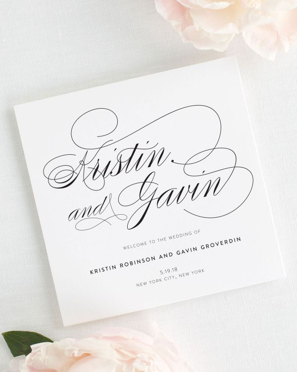 Wedding Programs  Shine Wedding Invitations  Luxury Wedding