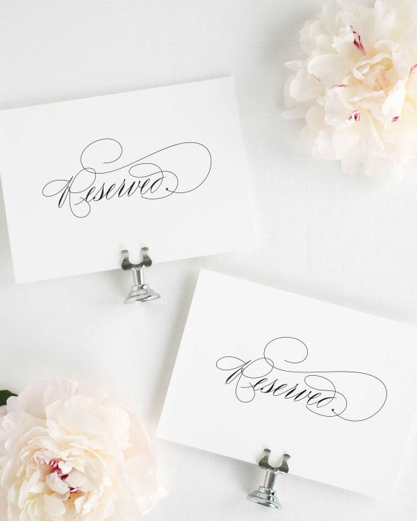 Script Elegance Reserved Signs