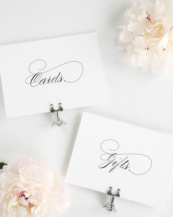 Script Elegance Wedding Signs Package