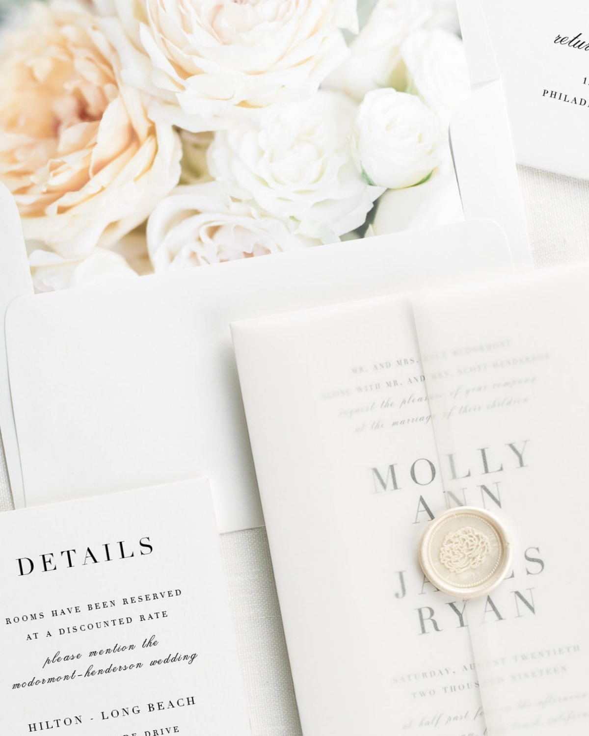 Colorful Vellum Paper For Wedding Invitations Pattern