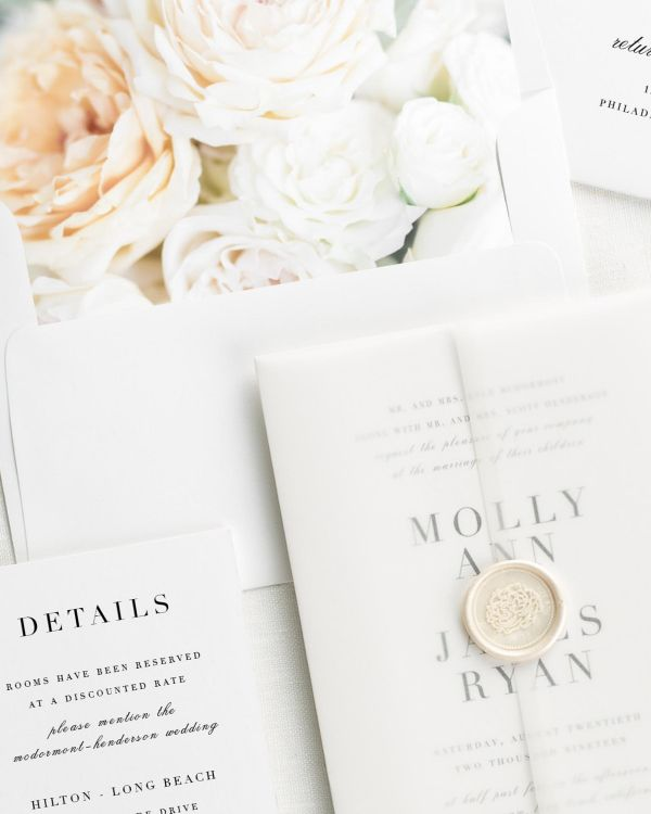 Serif Romance Floral Wedding Invitations