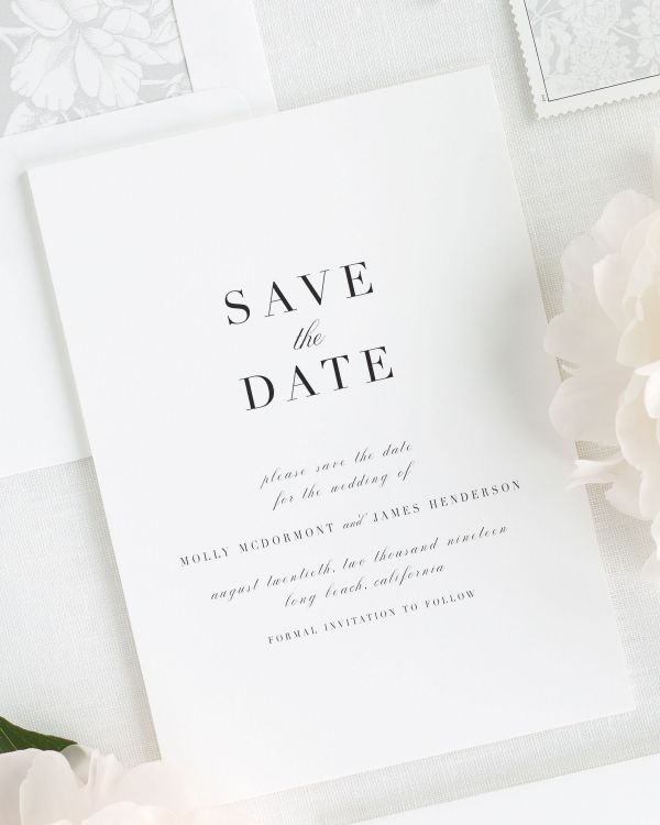 Serif Romance Save the Date Cards