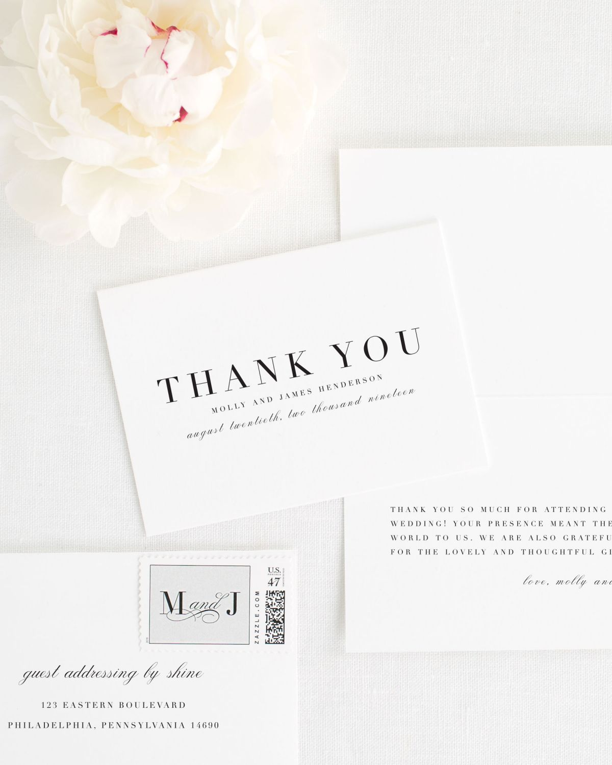 Amelia Thank You Cards for Weddings