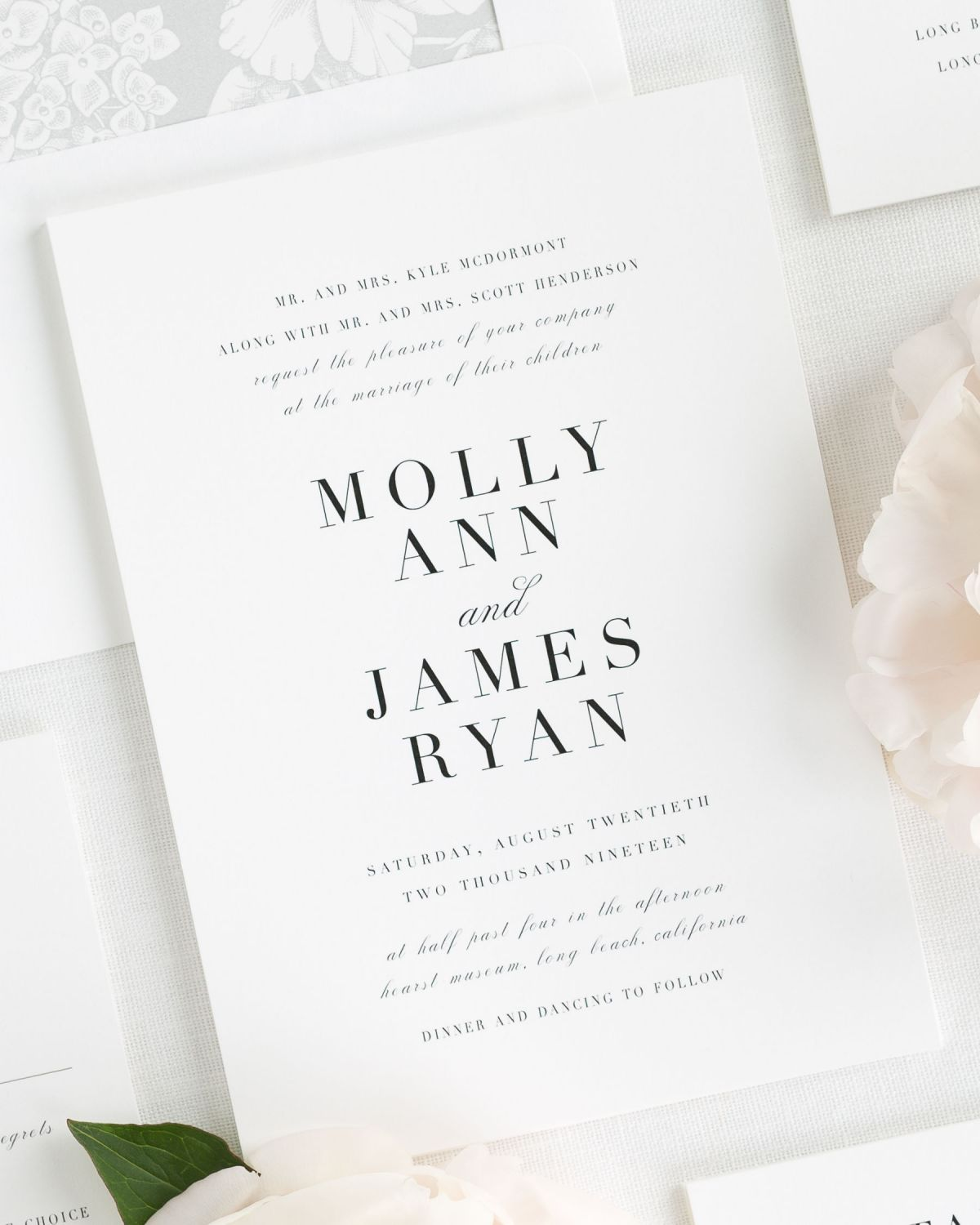 Serif Romance Wedding Invitations - Wedding Invitations by Shine
