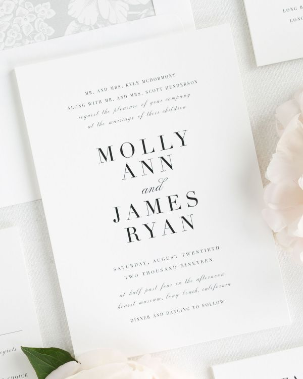 Serif Romance Wedding Invitations
