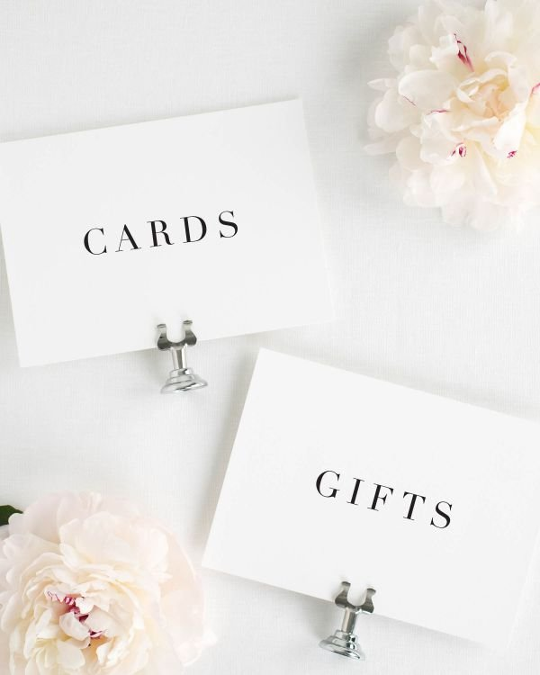 Serif Romance Wedding Signs Package