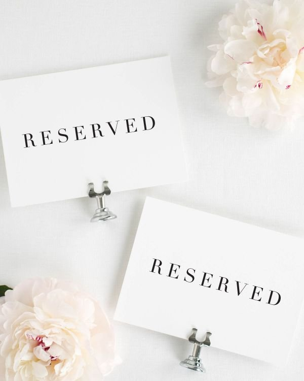 Serif Romance Reserved Signs