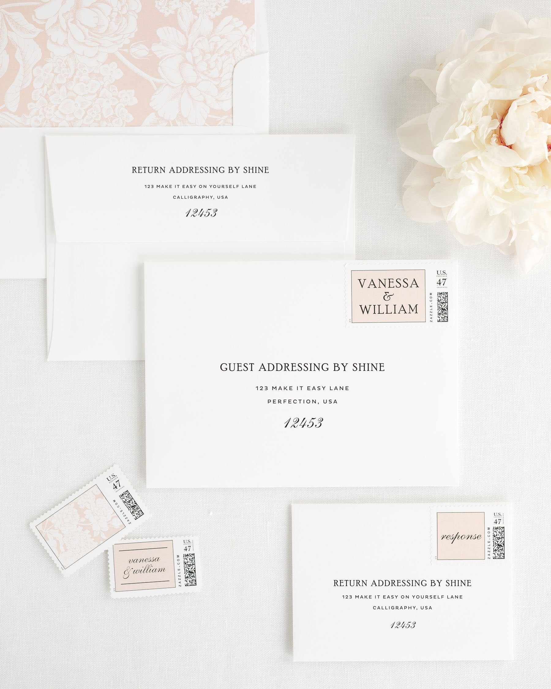 Simple Wedding Invitations In Black And White