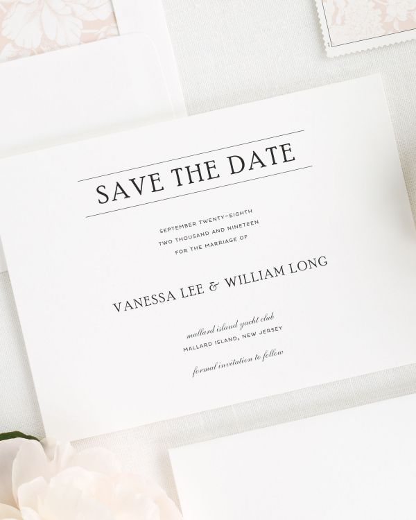 Simple Elegance Save the Date Cards