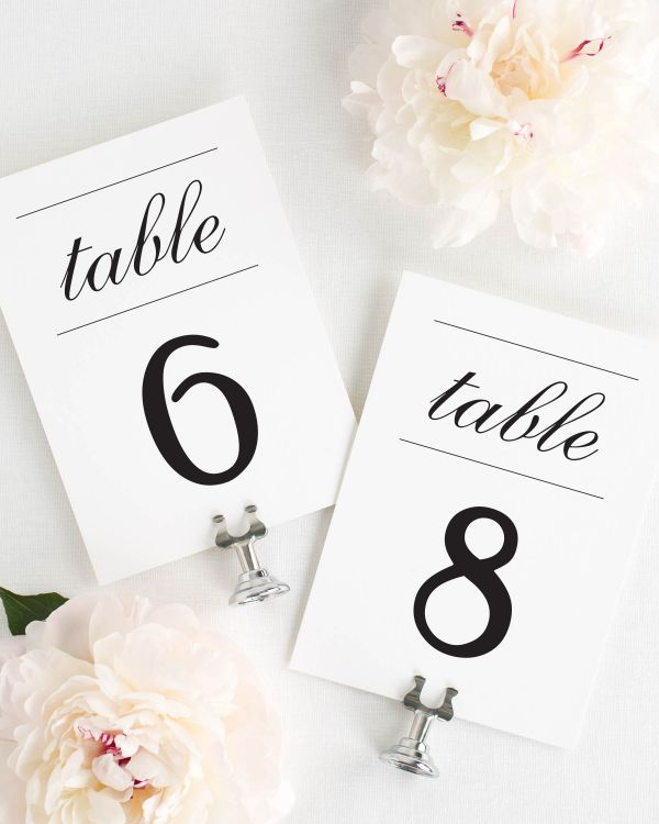 Simple Elegance Table Numbers