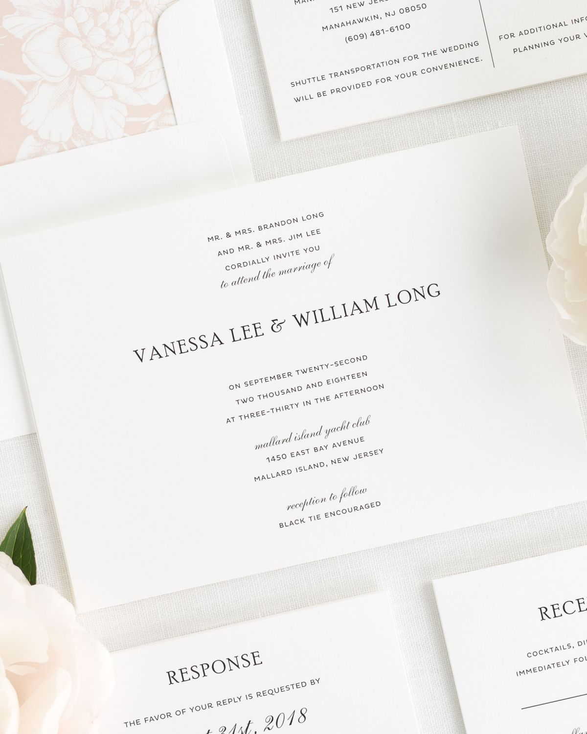 Simple Wedding Invitations in Black and White Wedding Invitations