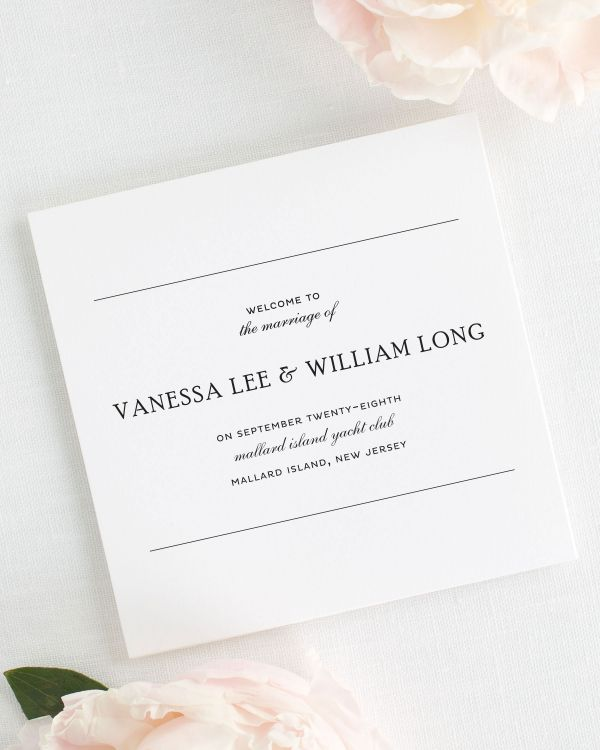 Simple Elegance Wedding Programs