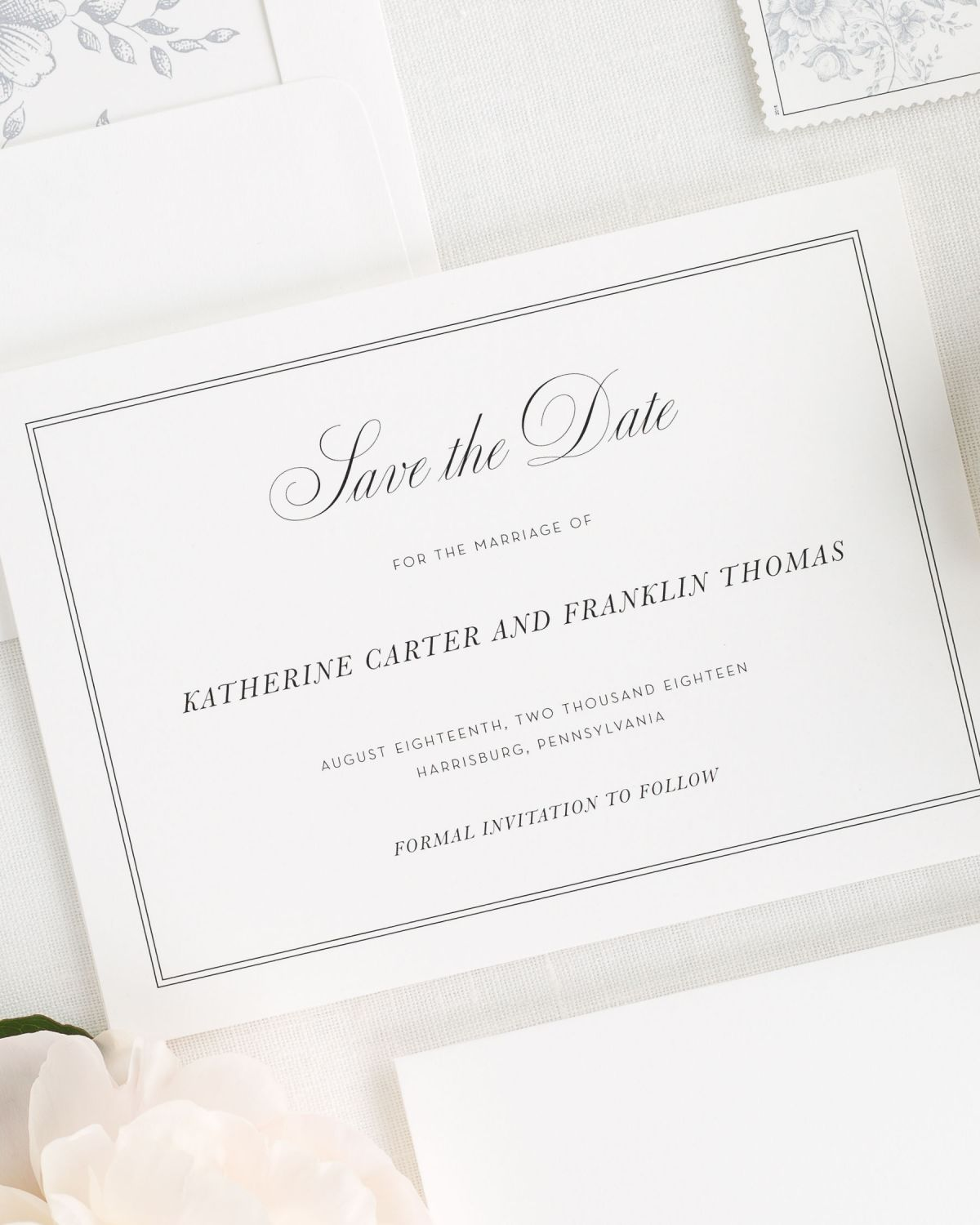Simply Classic Save the Date Cards - Save the Date Cards by Shine