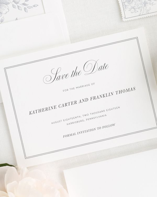 Simply Classic Save the Date Cards