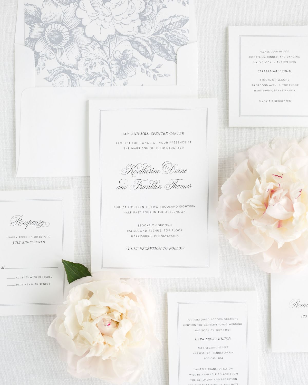 Simply Classic Wedding Invitations - Wedding Invitations by Shine