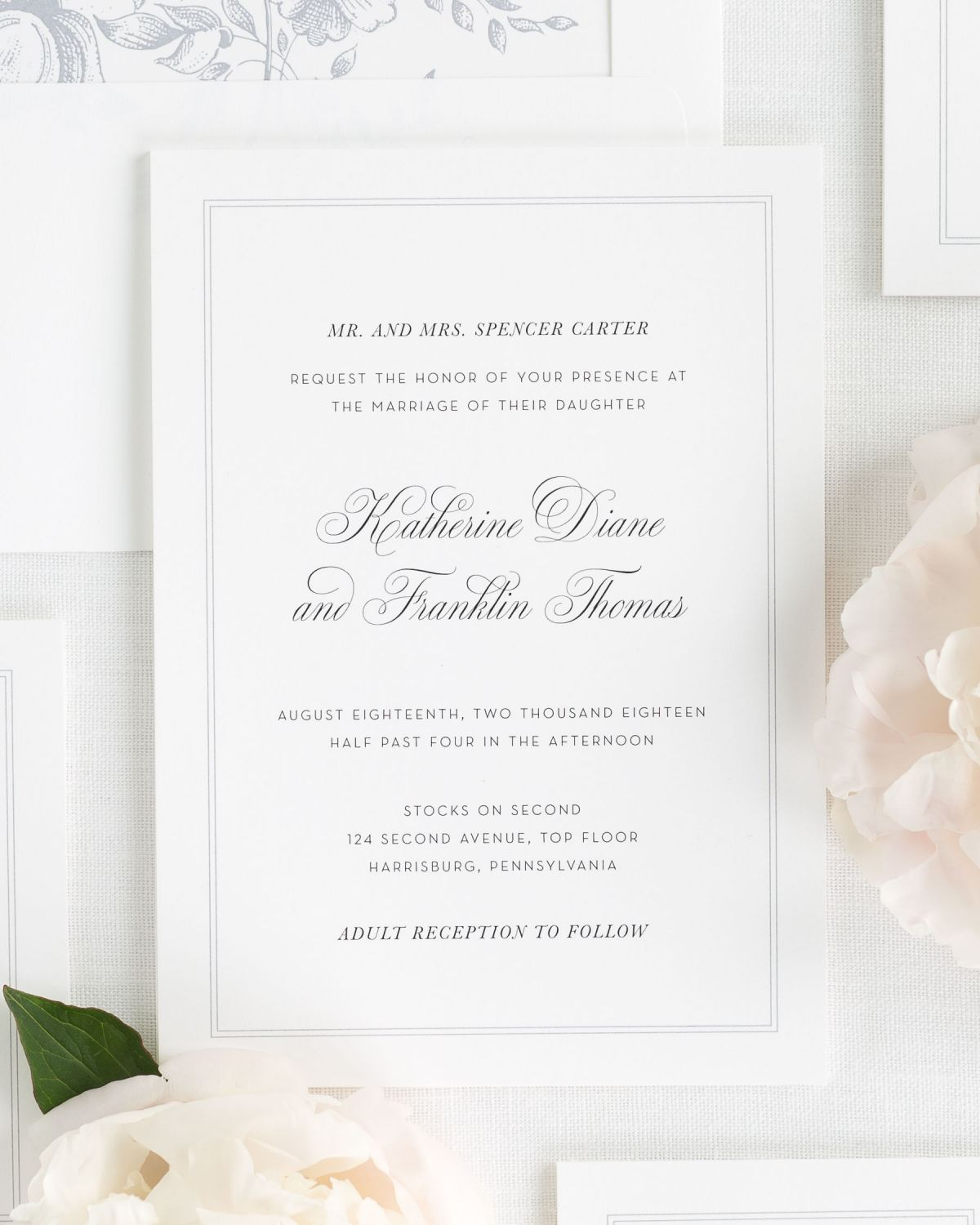 Wedding Invitations Wedding Invitation Suite With Dove Envelope Liner  Simply Classic Invitations ...