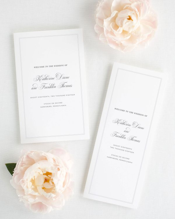 Simply Classic Booklet Wedding Programs