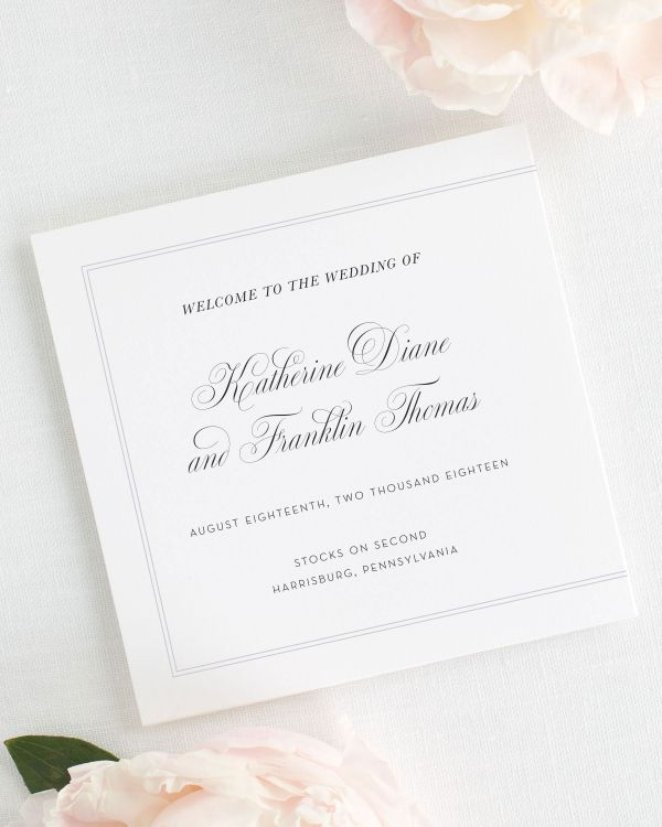 Simply Classic Wedding Programs