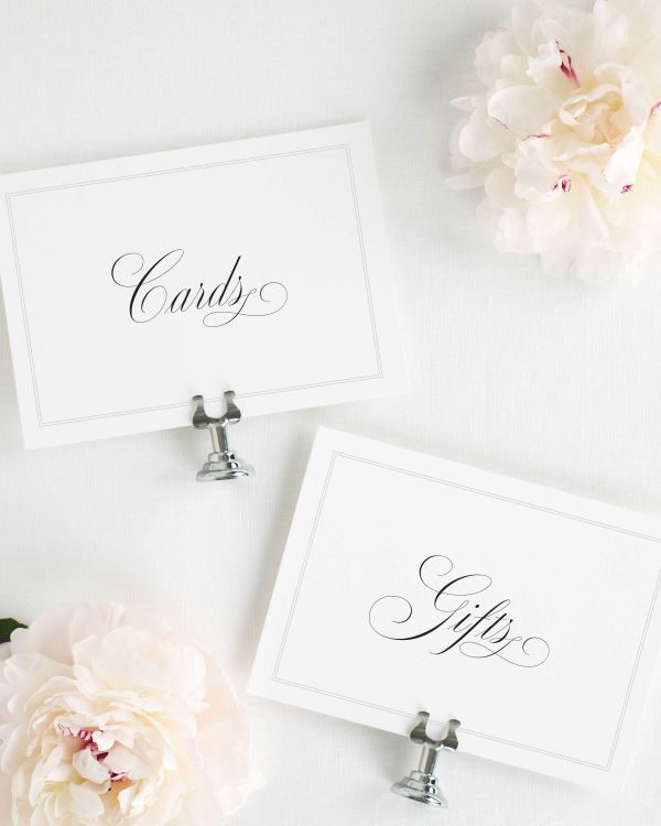 Simply Classic Wedding Signs Package