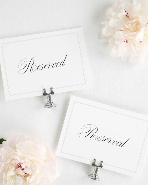 Simply Classic Reserved Signs