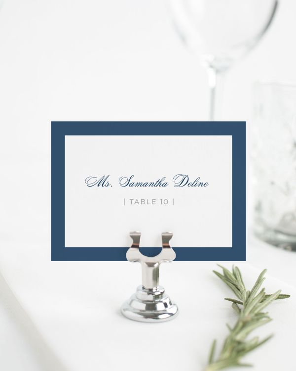 Sophisticated Modern Place Cards