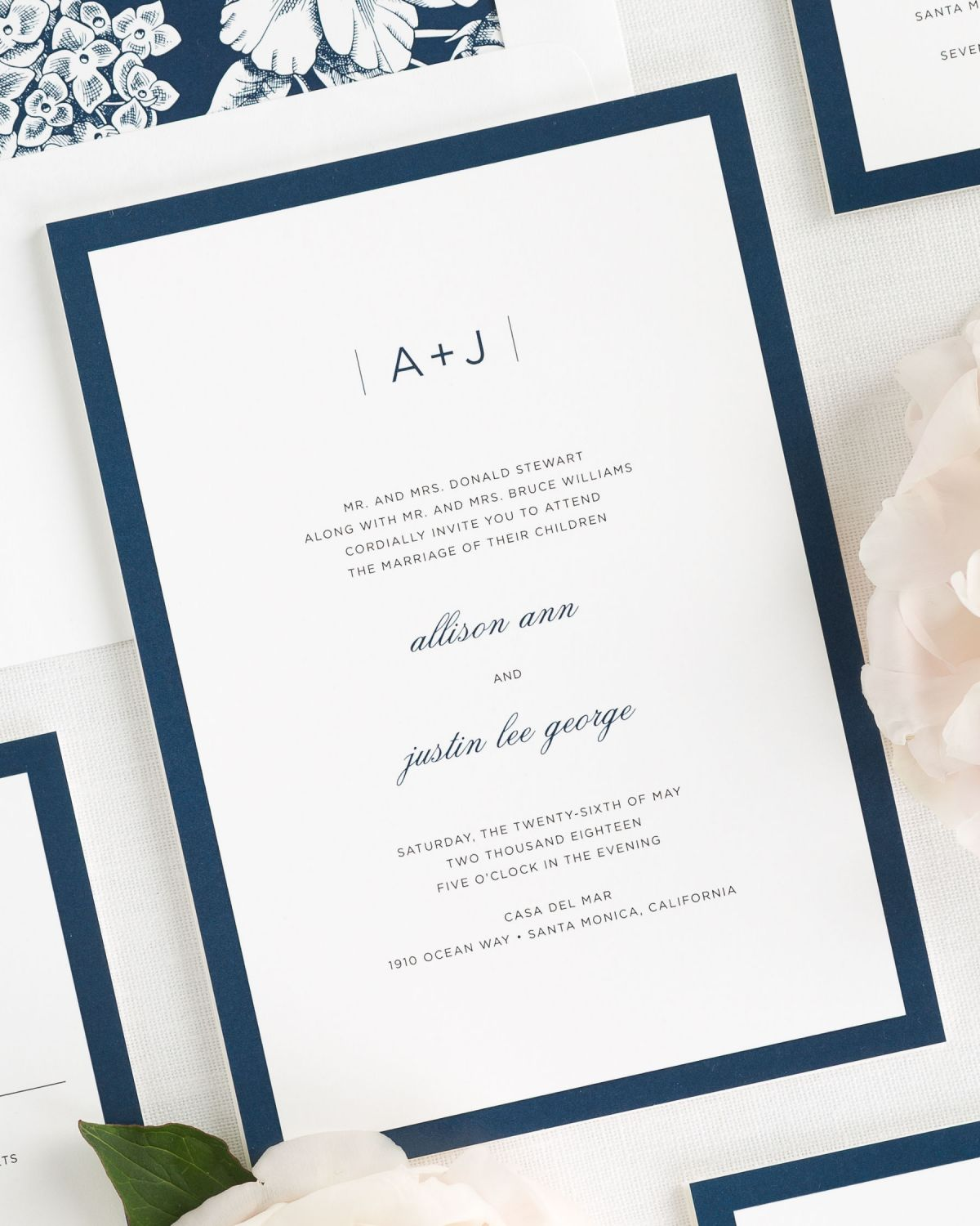 Sophisticated Modern Wedding Invitations Wedding Invitations by Shine