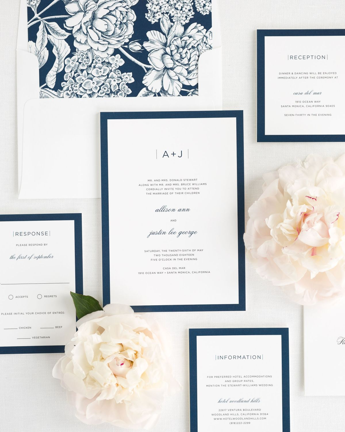 Sophisticated modern wedding invitations wedding invitations by shine wedding invitation package with navy envelope liner stopboris Choice Image