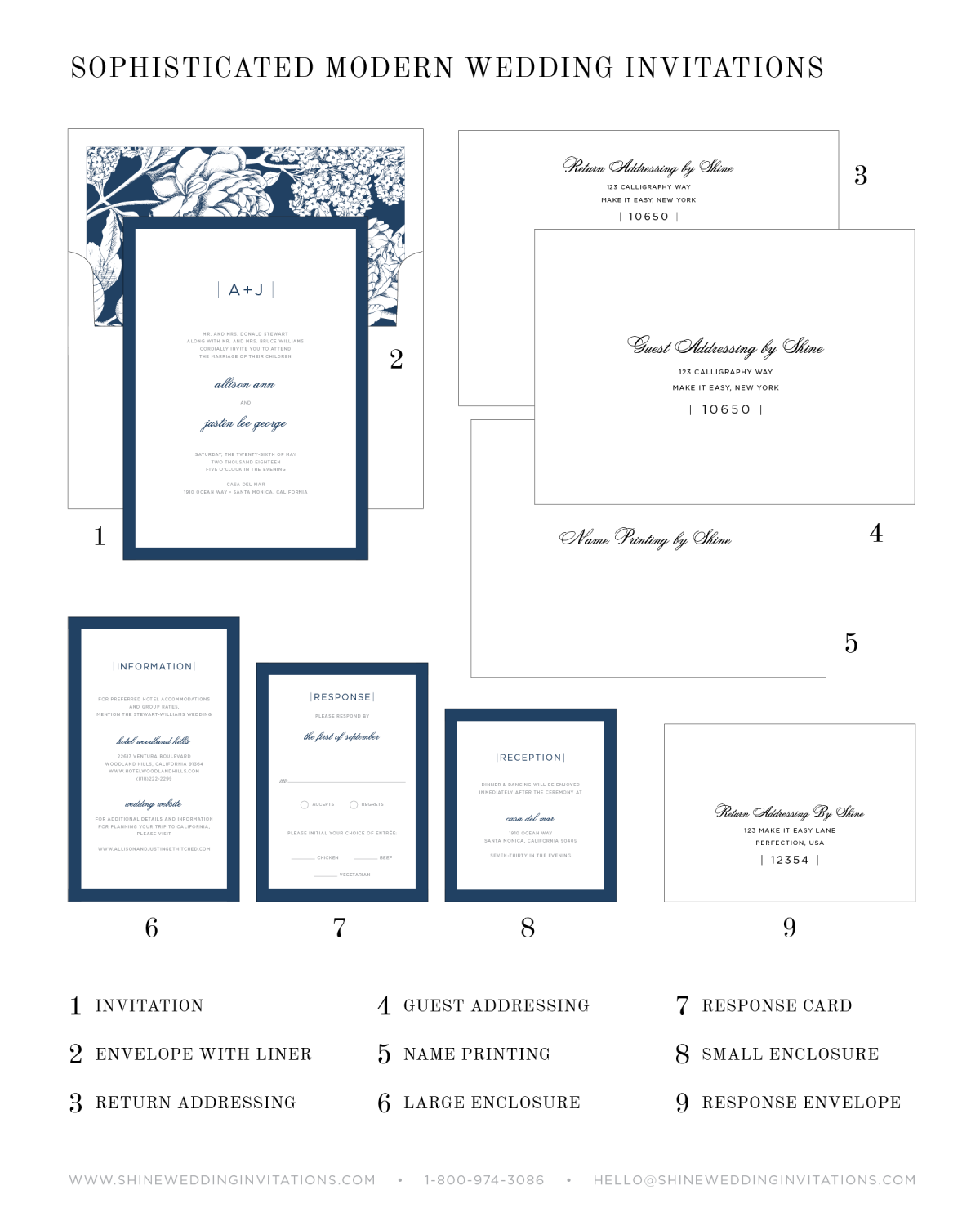 Wedding Invitation Pieces