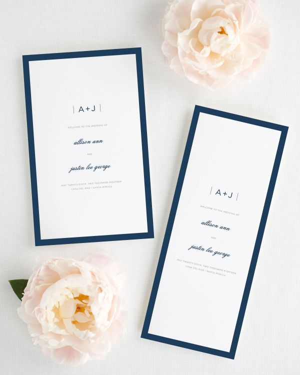 Sophisticated Modern Booklet Wedding Programs
