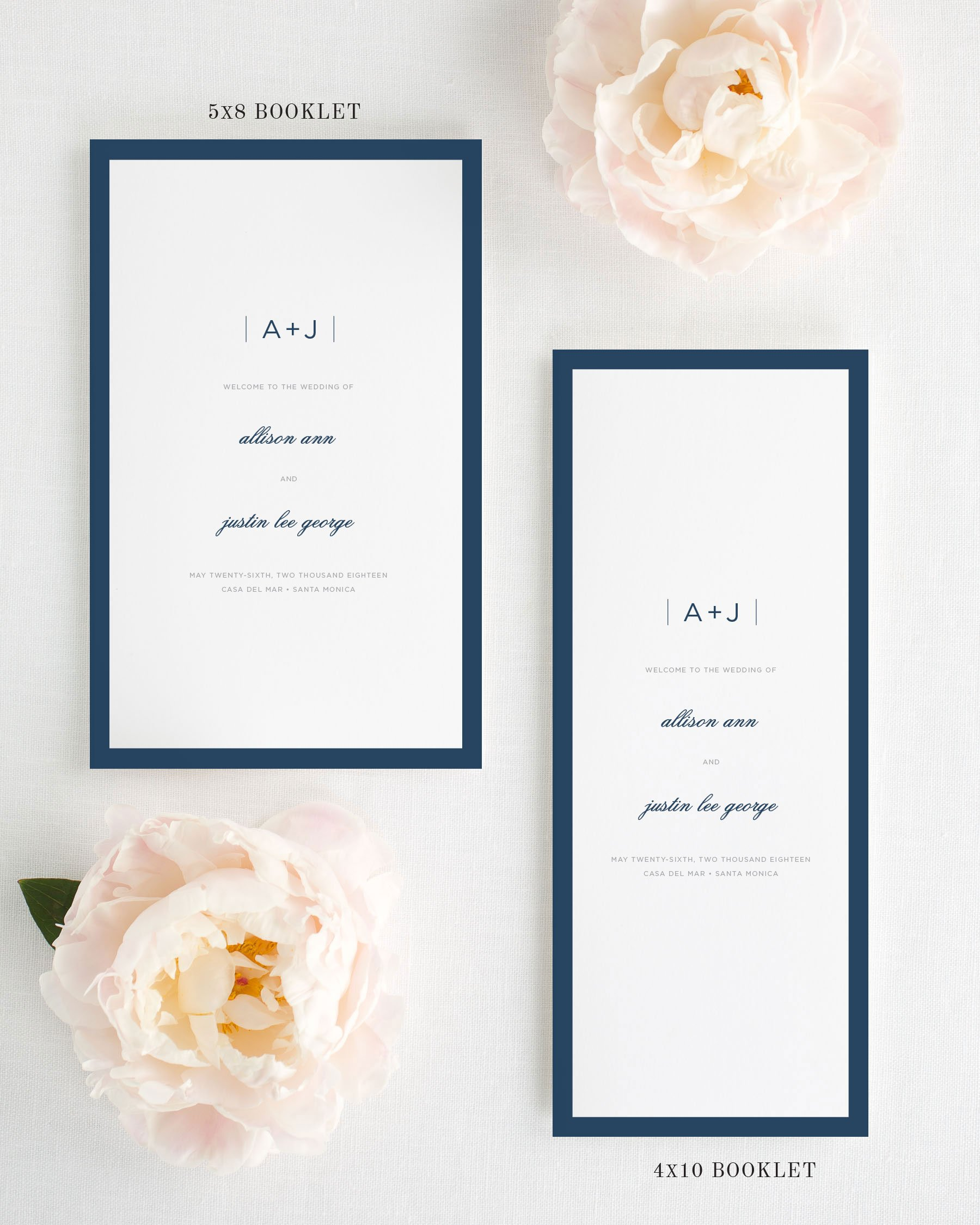 Sophisticated Modern Booklet Wedding Programs By Shine