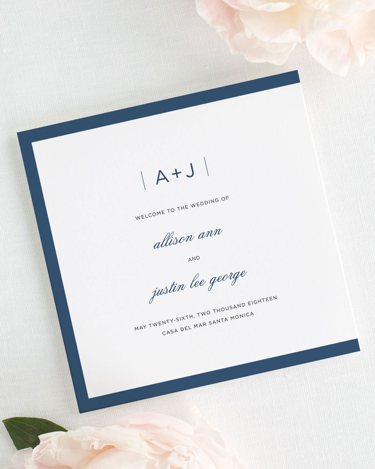 Sophisticated Modern Wedding Programs - Wedding Programs by Shine