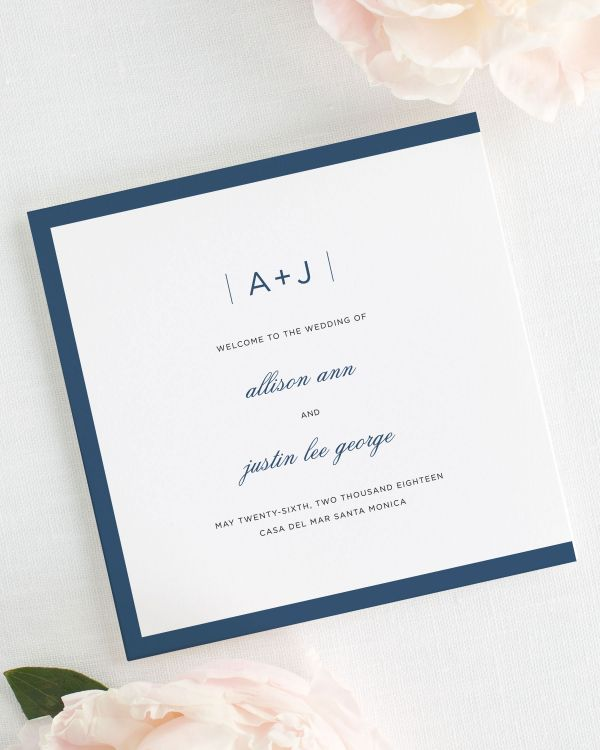 Sophisticated Modern Wedding Programs