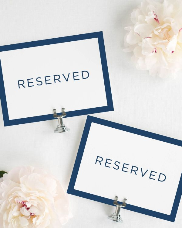 Sophisticated Modern Reserved Signs