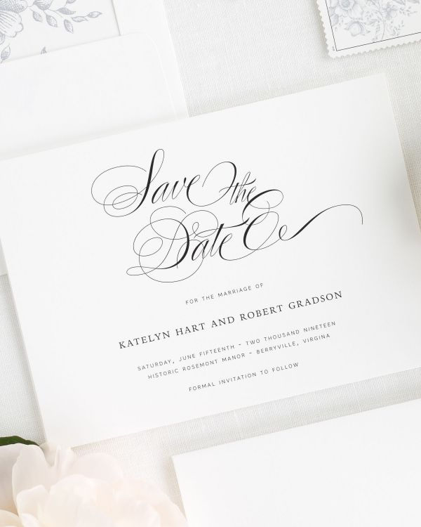 Southern Script Save the Date Cards