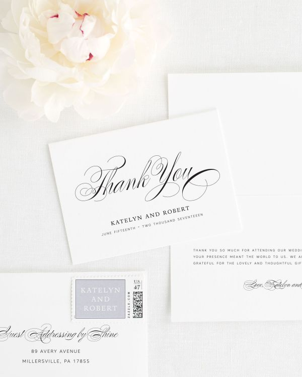 Southern Script Thank You Cards