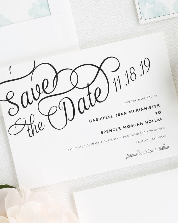 Statement Script Save the Date Cards