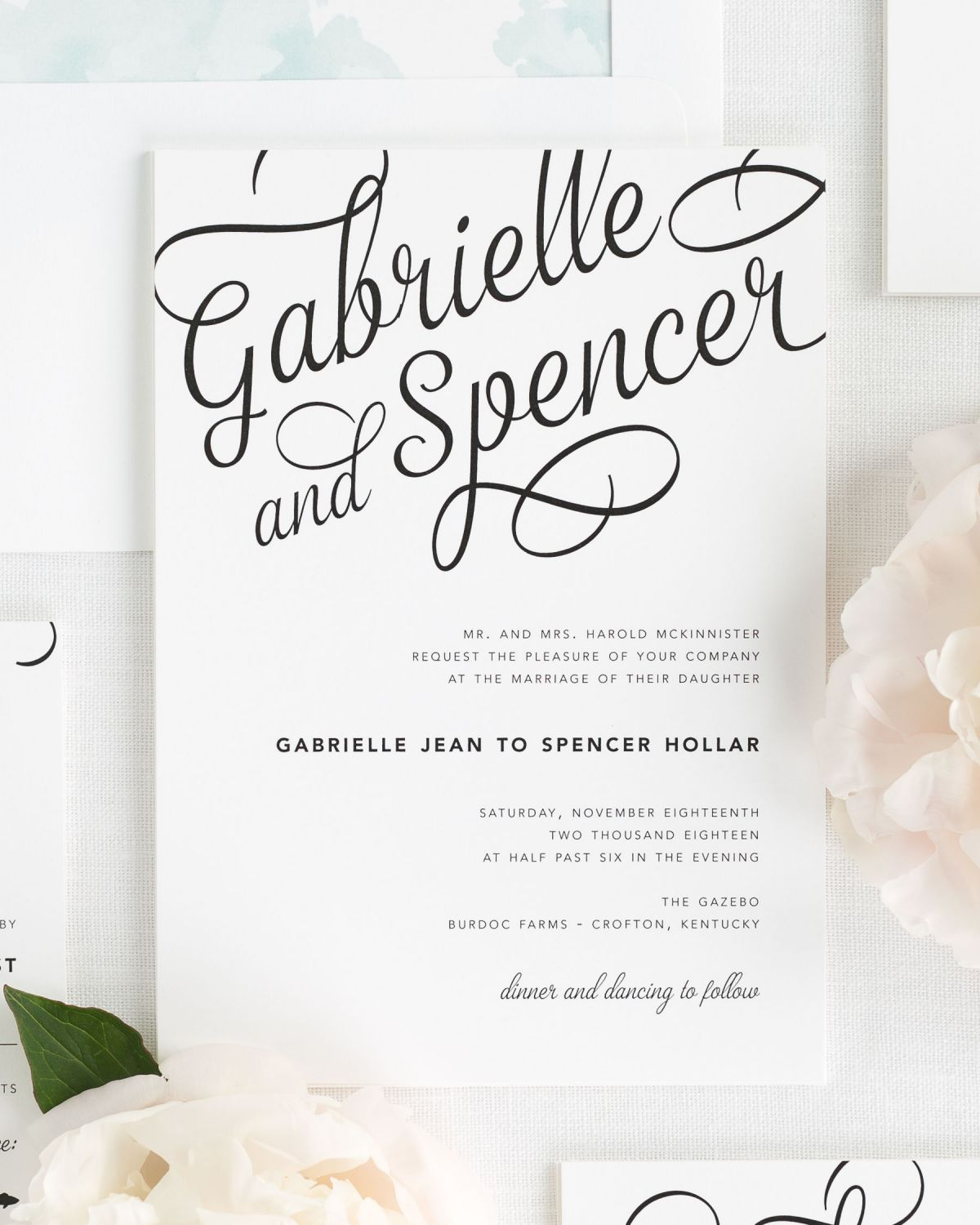 Modern and Playful Wedding Invitations