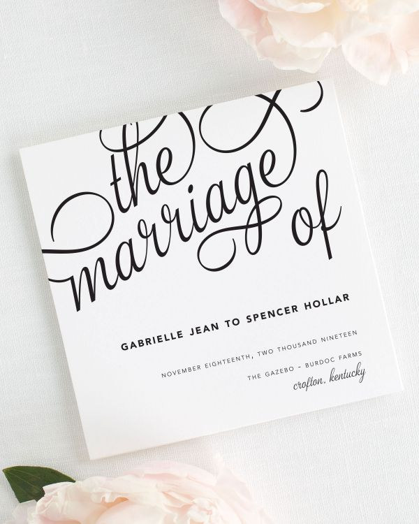 Statement Script Wedding Programs