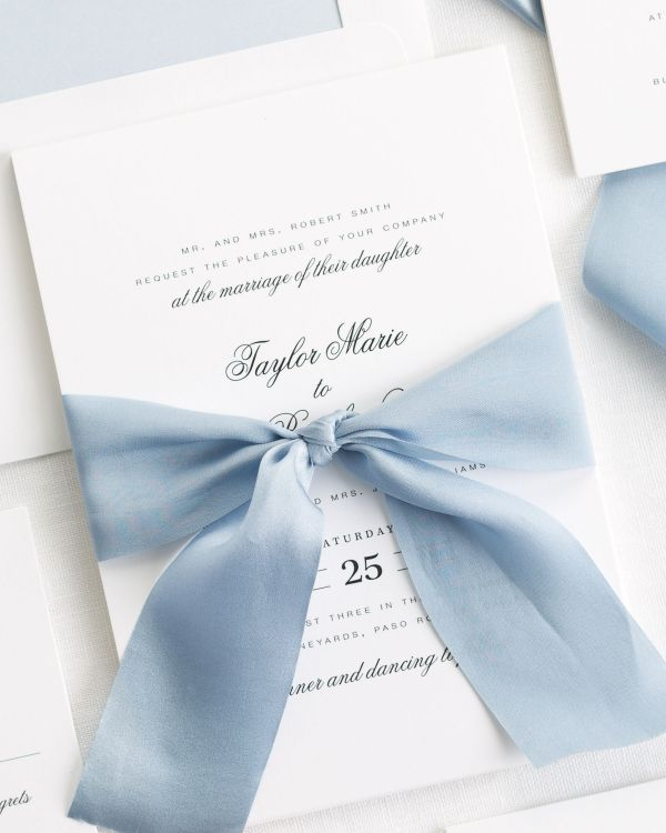 Taylor Ribbon Wedding Invitations