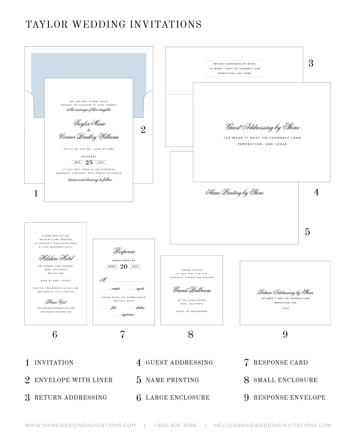 Wedding Invitation Chart