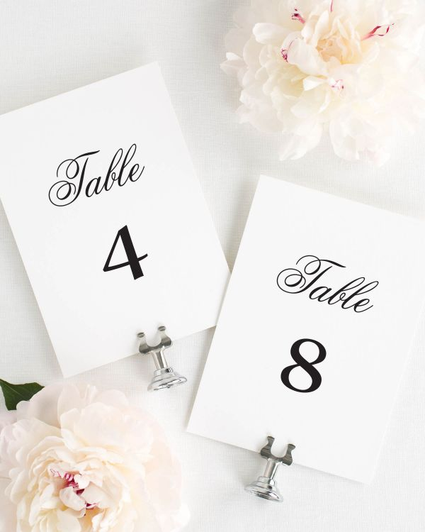 Taylor Table Numbers