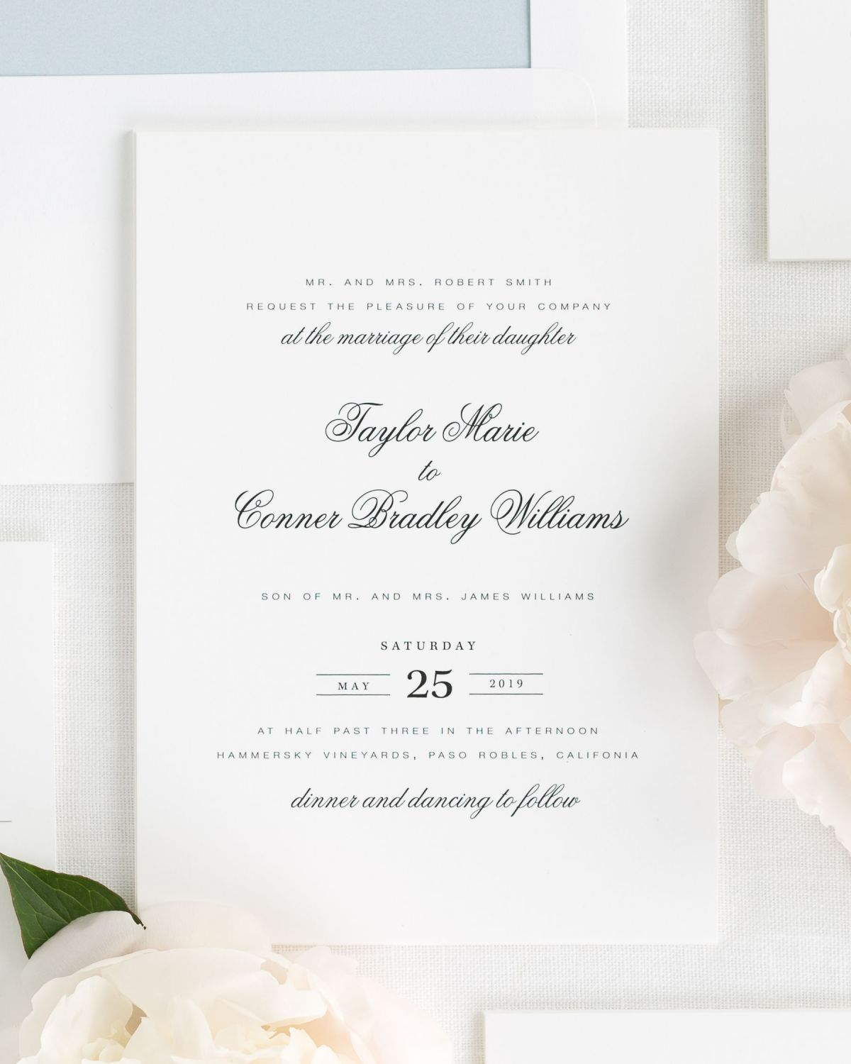 Small Script Names Wedding Invitations