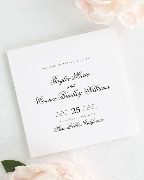 Taylor Wedding Programs