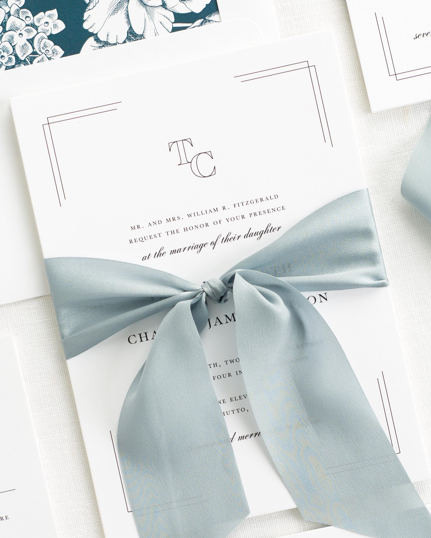 Tessa Ribbon Wedding Invitations