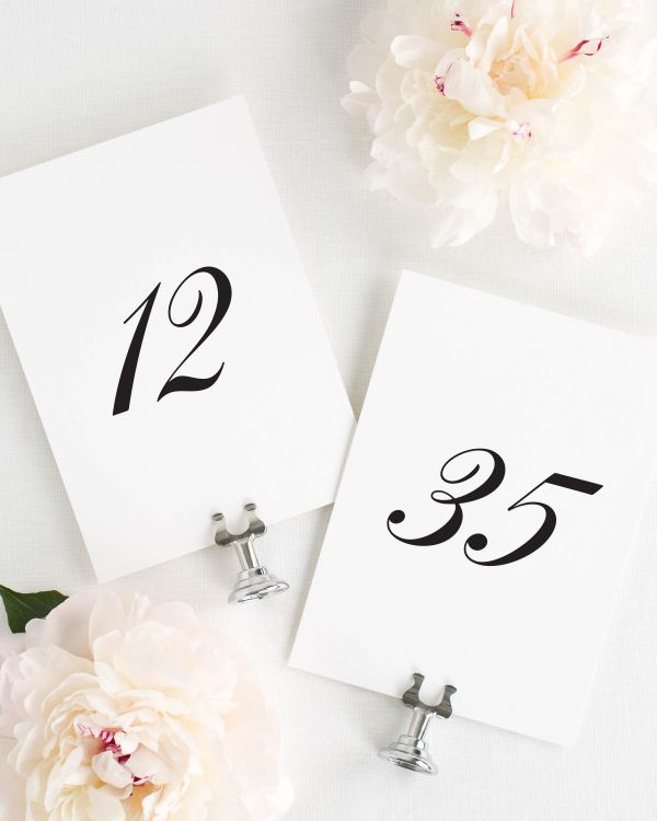 Tessa Table Numbers