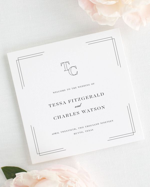 Tessa Wedding Programs