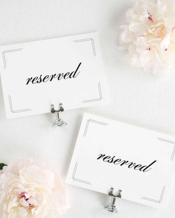 Tessa Reserved Signs