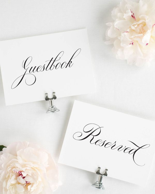 Timeless Calligraphy Wedding Signs Package