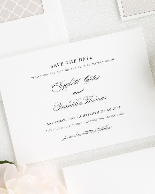 Timeless Elegance Save the Date Cards