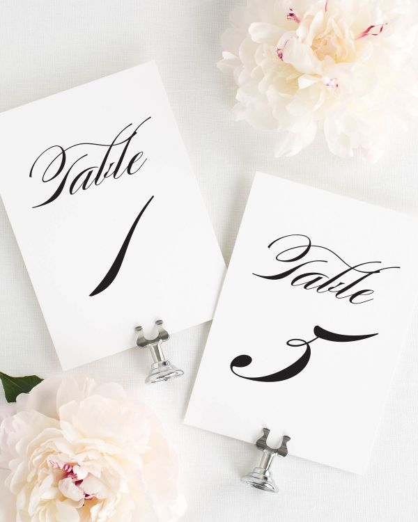 Timeless Elegance Table Numbers